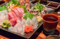 Sashimi is sliced raw fish such as tuna, shrimp and cuttlefish. Cuttlefish, Sashimi, Japanese Food, Fresh Rolls, Tuna, Shrimp, Wellness, Ethnic Recipes, Japanese Dishes