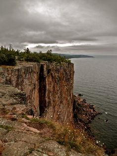 Palisade Head, Lake Superior, MN, we sail right next to it, so cool,
