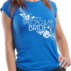 """All eyes on YOU, the bride, as you wear this super cute V.I.B. shirt """"Very Important Bride"""" at the August 2013 Bridal Spectacular Show http://www.bridalspectacular.com/.  It's going to be so much fun walking the isles shopping for just the right wedding professionals to make your dreams come true.  See you there!"""