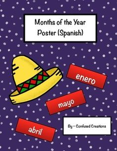 This product is a colorful way to help your students learn the months of the year in Spanish! This will be part of a larger classroom room bundle!
