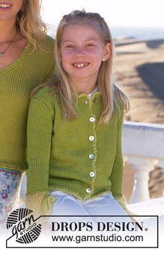 e0495e4862000 In The Garden Girl s Jacket Free Knitting Pattern Knitting For Kids