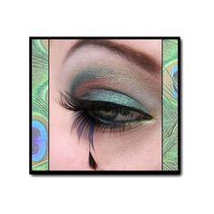 MAC Pigment look: Peacock   Idea Gallery   Makeup Geek found on Polyvore