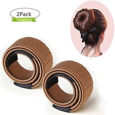 PrettyDiva Easy Hair Bun Maker French Twist Hair Bun Donut Crown Shapers Hair Rollers for Kids Ballet (Brown) *** Details can be found by clicking on the image. (This is an affiliate link) #HairCare
