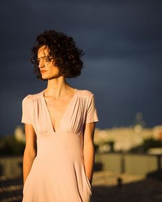 Risky colors: powder pink. Elegant, romantic, soft and strong. #riskmadeinwarsaw #fashion #powderpink #magichour #lovethatpic #rooftop