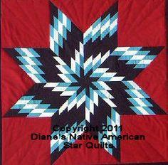 Whirlwind Native American Lone Star Quilt Pattern | eBay