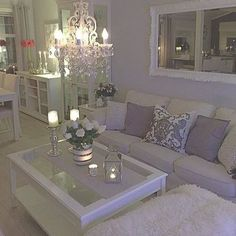 Dreamy Grays in the Living Room - All For Decorations Home Living Room, Interior, Home, Home Furniture, House Interior, Apartment Decor, Living Room Inspiration, Interior Design, Home And Living