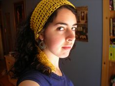 The Yellow Scarf, free pattern by Melody Fulone.  Perfect for warm/hot weather.  Very simple, uses only chains, SC, & TR stitches in a 3-row repeat to create the lacy mesh.  Calls for Aunt Lydia's Classic Crochet Cotton (size 10) & a 'D' (3.25mm) hook; of course, different yarns & hook sizes would be fun to try too  :-)  Finished size is up to you.  . . .  ღTrish W ~ http://www.pinterest.com/trishw/  . . .