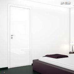 Drzwi wewnętrzne Umberto Cobeli model DP-1298. Skrzydło drzwiowe pokryte folią akrylową o wysokim połysku i zwiększonej odporności na zarysowania.