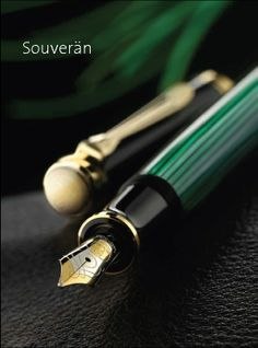 Pelikan Souveran Black & Green Fountain Pen