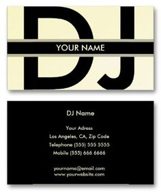 Best DJ Business Cards To Help You Get The Best Jobs