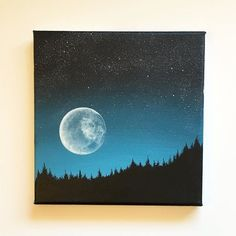 Acrylic painting on canvas. 8 x 8 inches. Available in my Etsy-Sho … – Painting painting art Super moon. Acrylic painting on canvas. 8 x 8 inches. Available in my Etsy-Sho … – Painting painting art Painting & Drawing, Moon Painting, Acrylic Painting Canvas, Acrylic Art, Diy Painting, Star Painting, Painting Abstract, Mini Canvas Art, Diy Canvas