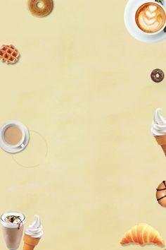 Summer western food afternoon tea bread Tea Restaurant, Restaurant Poster, Western Food Menu, Pizza Background, Space Wallpaper, Simple Background Images, Croissant Bread, Afternoon Tea Cakes, Dessert Illustration