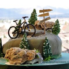My birthday cake Bicycle Cake, Bike Cakes, Mountain Bike Cake, Dad Cake, Sea Cakes, Sport Cakes, My Birthday Cake, Cakes For Men, Novelty Cakes