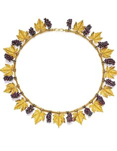 Gold and Glass Grapevine Necklace, Castellani, Circa 1880 | lot | Sotheby's