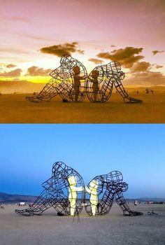 Робота українського художника Олександра Мілова на найбільшому фестивалі концептуального мистецтва Burnning Man в США