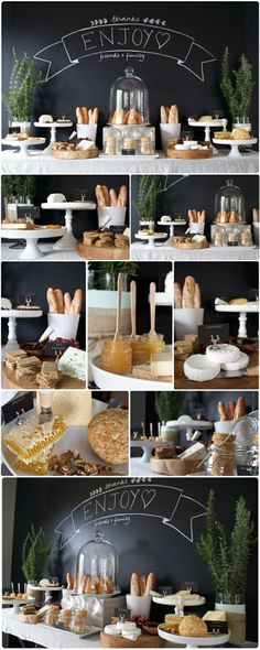 Brunch Party Food Buffet Tables French Toast 66 Ideas For 2019 Brunch Bar, Brunch Table, Fondue, Buffets, Cheese Tray Display, Shower Appetizers, Wedding Appetizers, Party Food Buffet, Brunch Party Decorations
