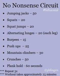 Circuit Workout from PbFingers. #FitFluential