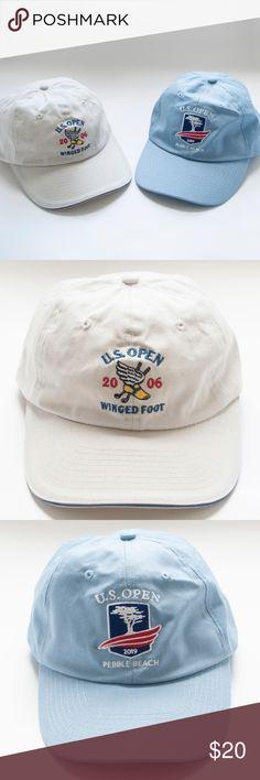 9a8cc57587e3c U.S. Open Adjustable Hat Lot of 2 US Open Pebble Beach 2019 USGA Blue  Adjustable Hat