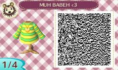 Chara from Undertale QR code for Animal Crossing New Leaf.