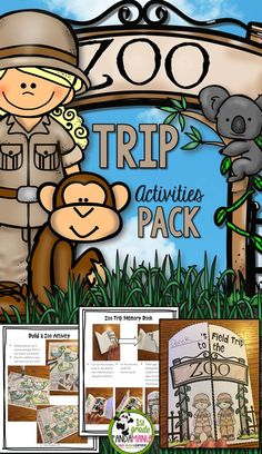 Zoo Trip Activities Pack Made by a REAL Zoo Keeper! Your kindergarten, and grade classes are set with activities before, during and after your zoo visit with this 145 page activity pack. Prepare with Animal Fact Cards as well as animal classificat Fun Classroom Activities, Art Activities For Kids, Spring Activities, Travel Activities, Science Activities, Animal Activities, Kindergarten Activities, Zoo Preschool, Preschool Learning