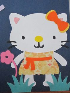 Hello Kitty: I MADE THIS WITH THE CREATE-A- CIRTTER 2 CIRCUT CARTRIDGE USING BITS AND PIECES OF DIFFERENT CREATURES.