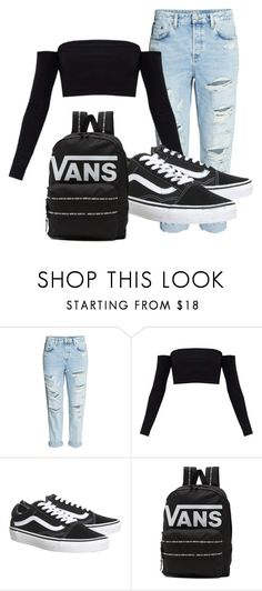 """Casual outfit"" by fangirllllever on Polyvore featuring H&M, Topshop, Vans and vans"