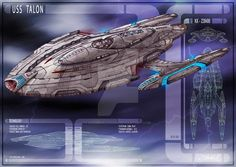 USS Talon by DonMeiklejohn on DeviantArt. The USS Talon was a Federation starship in Starfleet service in the century. It was the prototype Talon-class scout, in active service in the decade of the Star Wars, Science Fiction, Concept Ships, Spaceship Concept, Concept Art, Star Trek Online, Starfleet Ships, Sci Fi Spaceships, Sci Fi Ships