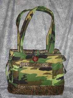 Camo and Leopard Print Purse Handmade by BrooksBeautifulCreations
