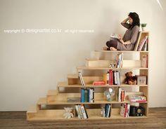 Staircase Shelves & Nook