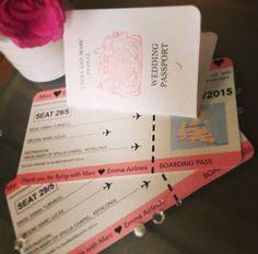 Wedding Boarding Pass and Passport