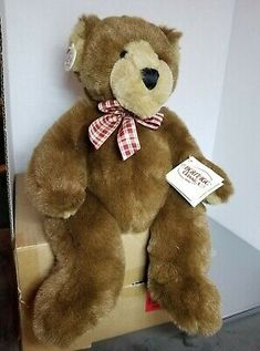 """Find many great new & used options and get the best deals for Heritage Collection Ganz Teddy Bear """"Bogey"""" H2864L at the best online prices at eBay! Free shipping for many products! Ladybug Costume, White Teddy Bear, Budgies, Santa Hat, The Magicians, Plush, Free Shipping, Toys, Animals"""