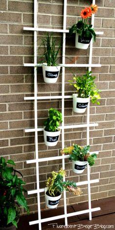 Ikea Bygel Vertical Garden with Chalkboard labels