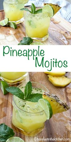 Lime juice, mint, rum, and fruit all combine to bring you a great cocktail called the Mojito. Enjoy these unique 10 Mouthwatering Mojito Recipes! Pineapple Mojito Recipe Pitcher, Pineapple Margarita, Pineapple Mint, Pineapple Drinks, Pineapple Cocktail, Pineapple Infused Vodka, Refreshing Cocktails, Yummy Drinks, Cocktail Recipes