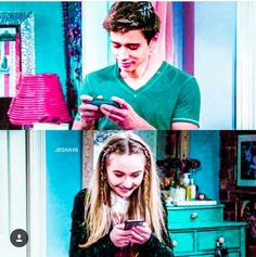 Awwww!!! I love this!!!! Josh & Maya texting eachother!!! Their smiling!! Hehehehehe!!! I love it!!!!