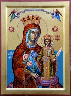 The Unfading Rose (Ρόδον τὸ ἀμάραντον) I Love You Mother, Mother Mary, Religious Icons, Religious Art, Church Icon, Byzantine Art, Holy Mary, Jesus Is Lord, God