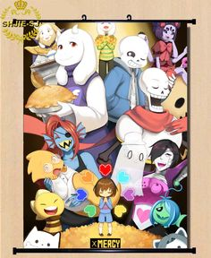 GH07 Home Decor Poster Wall Scroll Undertale Chara/Sans/Papyrus Game Cos Gift