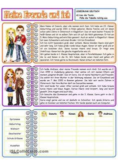 Arbeitsblatt mit 3 Aufgaben- Text lesen- Lückentext- eigenen Text ...