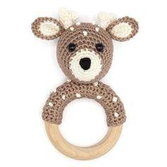Crochet Deer, Crochet Baby Toys, Crochet Motif, Diy Crochet, Crochet Patterns, Amigurumi Fox, Cute Baby Gifts, Newborn Toys, Fox Pattern