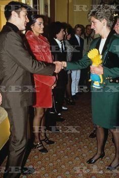 Simon and Yasmin Le Bon and Princess Diana Jan 1991