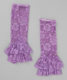 Purple Lace Leg Warmers - Toddler