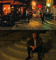 the scene from Midnight in Paris makes you want to walk the streets of Paris at night and wait on the steps of the church till the midnight bell tolls and then the vintage peugeot would pick you up and take to you to the era you belong