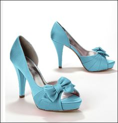 THESE ARE MY WEDDING SHOES <3  http://www.davidsbridal.com/Product_Satin-Peep-Toe-Platform-High-Heel-with-Bow-Maribelle_Accessories-Shoes-All-Shoes