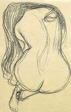 Klimt- I love that Gustavo Klimt started with the sketch of the figure, in…