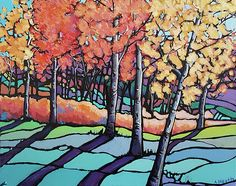 """""""Fall Colours"""", tree landscape painting"""