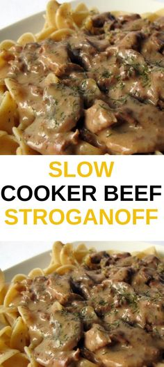 The Best Slow Cooker Beef Stroganoff, we've ever made! Plus, you can cook it in your Instant Pot or Multi-Cooker. Ingredients: 1 pound cubed beef stew meat 1 ounce) can condensed golden mushroom soup cup chopped onion 1 tablespoon Worcestershire Stew Meat Recipes, Ground Meat Recipes, Meat Recipes For Dinner, Cooker Recipes, Crockpot Recipes, Best Beef Stroganoff Recipe Slow Cooker, Recipes With Beef Cubes, Cream Cheese Recipes Dinner, Crock Pot Stroganoff