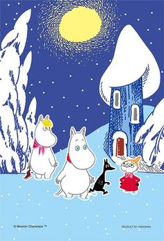 moomins in winter Cartoon Photo, Cartoon Images, Tove Jansson, Winter Wallpaper, Christmas Cartoons, Fairytale Art, Little My, A Comics, Kawaii Anime