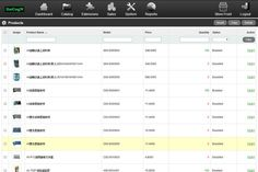 ecommerce manage products ui - Google Search