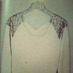 DIY glitter clothes hanger