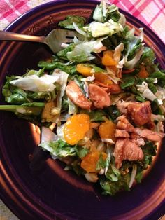Quick and easy AND healthy dinner! Asian chicken salad