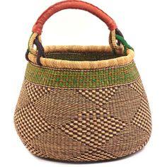 "pot baskets from africa | Ghana Bolga Baskets - Gambibgo Pot 15.5"" Across 33958"